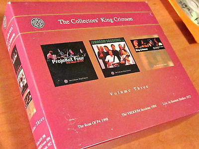 KING CRIMSON JAPAN 3CD Collectors Vol Three BOX Set P4 Bill Bruford Tony Levin