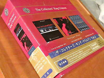 KING CRIMSON JAPAN 3CD Collectors' Volume Four BOX SET Live Central Park 74 81+