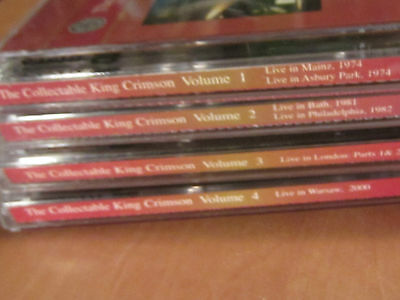 8 CD The COLLECTABLE KING CRIMSON Volume 1 2 3 4 MINT Robert Fripp Adrian Belew