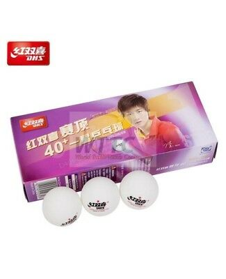 DHS 3 star 40+ Cell Free White Table Tennis Balls (Pack of 12) ITTF Approved