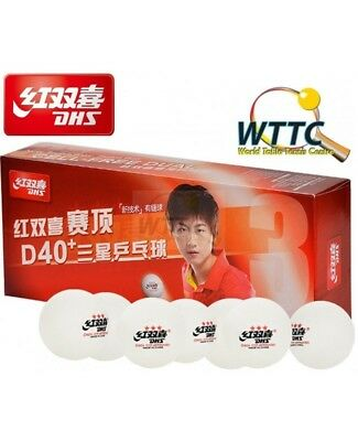 DHS 3 star D40+ Cell Free Dual Table Tennis Balls (Pack of 30) ITTF Approved