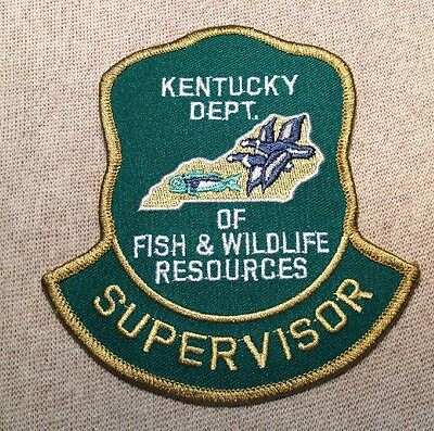 KY Kentucky Department of Fish & Wildlife Resources Supervisor Patch