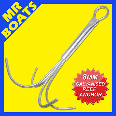 8mm REEF ANCHOR 4 Prong ✱ Fully Galvanised Hot dipped ✱ For boats up to 5 Metres