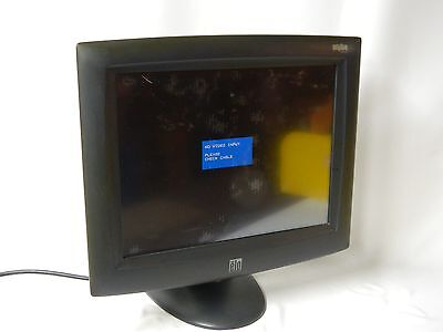 "Elo Entuitive 15"" Touchscreen Pos Terminal Monitor + Power Cord - Tested Good!"