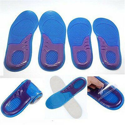 Work Boots Gel Insoles Shoe Inserts Orthotic Arch Support Pads Massaging Feet UK