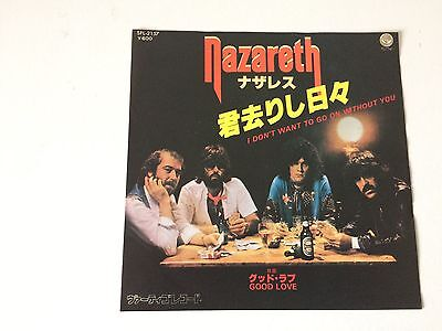 7 Inch Single Nazareth I Don't Want To Go On Without You Japan