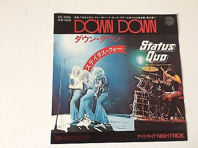 7 Inch Single Status Quo Down Down Japan