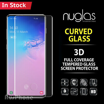 Galaxy S10 S9 S8 Plus e Note 9 8 NUGLAS Tempered Glass Screen Protector Samsung