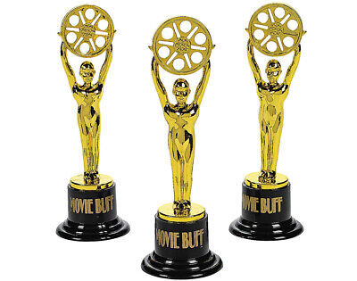 Movie Buff Gold Oscar Style Award Trophy for Party Bags | Kids Party Games