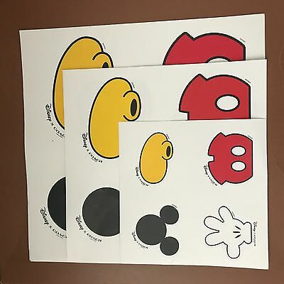 Set of 3 Coach Mickey Mouse Stickers  NEW