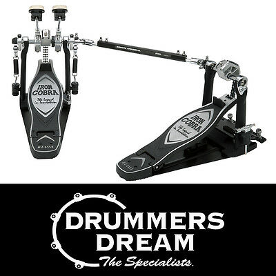 TAMA Iron Cobra LEFT-FOOTED Double Kick Bass Drum Pedals Power Glide HP900PSWLN