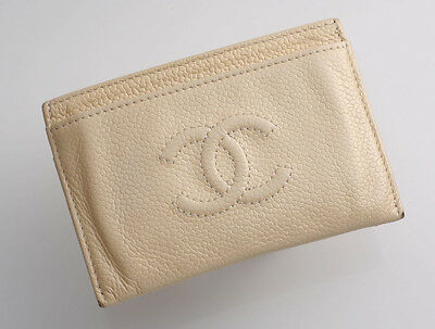 G5561M Authentic CHANEL Caviar Skin Business & Credit Card Case