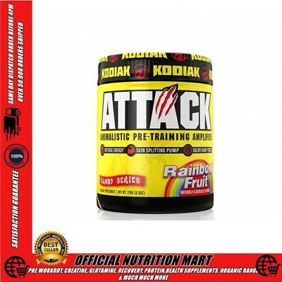 Attack Pre Workout By Kodiak Sports Nutrition - Intense Energy - Pump - Focus No