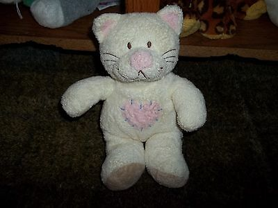 """TY Beanie babies Pluffies 8"""" KITTYHUGS Cat Kitty Rattle Lovey Plush Security toy"""