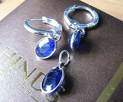 Natural sapphire 925 silver set