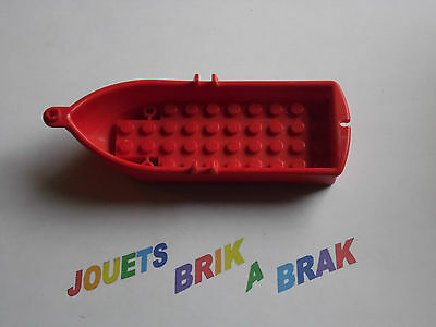 Lego bateau Boat 15x5x2 Red Rouge accessoire figurine personnage ref 2551