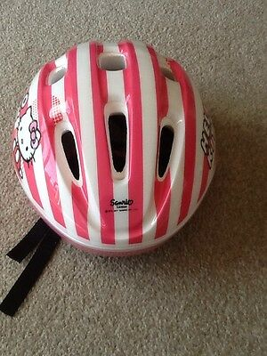Girls Hello Kitty Bicycle Helmet With Knee And Elbow Pads