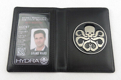 Agents of S.H.I.E.L.D. SHIELD Serials Hydra Badge @ Holder With Customed ID Card