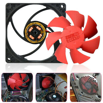 80mm 2200RPM Silent High Performance Computer PC 3 Pin Case Cooling Fan Cooler