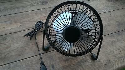 "4"" Usb Desk Fan Retro Vintage Styling Keep Your Dog Cool In The Car Campervan T4"