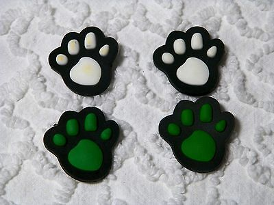 C 449 US Seller New Cat/Dog Pet Paw Prints Shoe Charm Fits Crocs , Jibbitz,