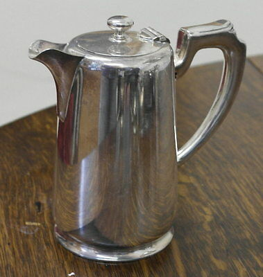 antique  silver plate TEA POT hot water coffee pot