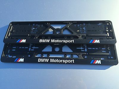 BMW number plate surrounds M sport motorsport (pair) M3 M5 M6 E60 Z4 X5 E39 E46