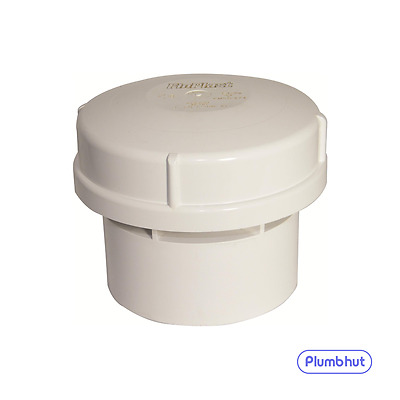 "FloPlast 110mm 4"" Air Admittance Valve Solvent Weld AV110 WHITE"
