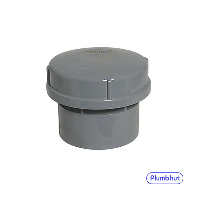 "FloPlast 110mm 4"" Air Admittance Valve Solvent Weld AV110 GREY"