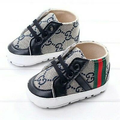 Designer inspired baby toddler pram shoes  trainers 0_18 months boys girls
