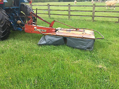 PZ 165 2 Drum Mower Grass Topper Working in VIDEO Tractor Field Paddock