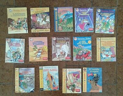 IDEA REGALO: LOTTO 13 LIBRI di GERONIMO STILTON + 1 SCOOY-DOO in OMAGGIO