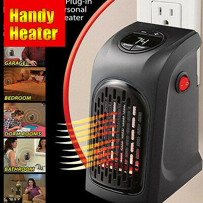 110-220V 350W Portable Electric Heater Fan Wall-Outlet Handy Air Warmer Silent