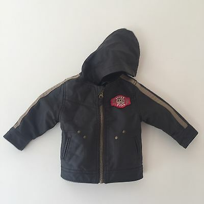 Baby Boys pumpkin patch faux leather jacket brown size 6-12m 0