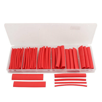 2:1 Heat Shrink Tube Wire Wrap Cable Sleeve Sets 6 Sizes Red w Case 79pcs