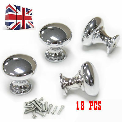 Stainless Steel Door Handles Cabinet Knobs Cupboard Drawer Kitchen Silver Knobs