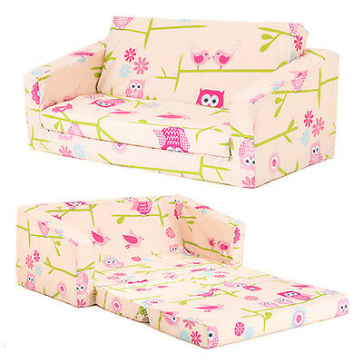 Owls Kids Flip Out 'Lily' Sofa Bed Sleep Over Fold Out Children's Furniture