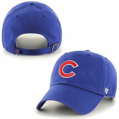 Chicago Cubs MLB Kid's '47 Clean Up Cap Royal Blue Adjustable Baseball Hat Youth