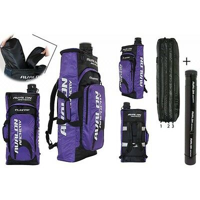 Avalon Archery Classic - Zipped - Recurve Backpack + Arrow Tube / - Colours