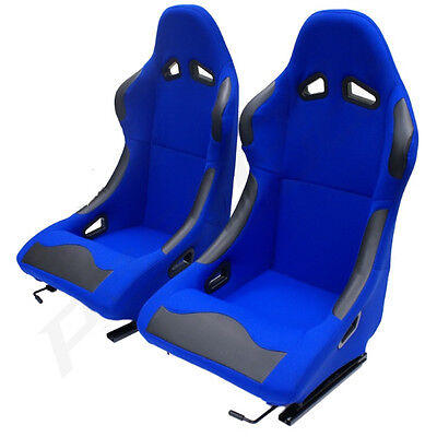 Blue Bucket Car Seats For Renault Clio - Fixed/racing Seat