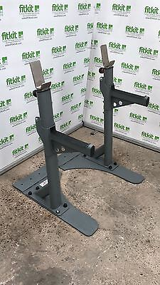 Jordan Fitness Premium Heavy Duty Squat Rack Stand - Commercial Gym Equipment