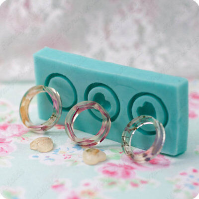 SET Silicone molds for 3 rings, sizes to choose, flexible mold for epoxy resin.