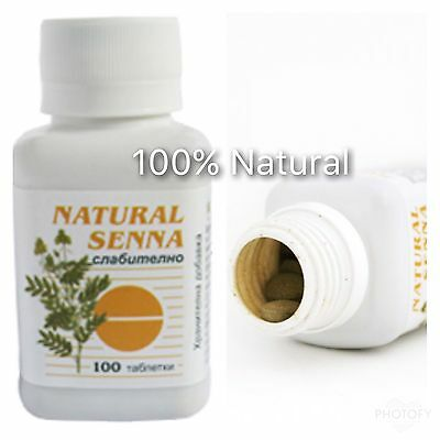 Senna Laxative x 100 Tablets Natural Constipation
