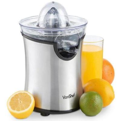 VonShef 100W Stainless Steel Electric Citrus Juicer for Orange, Lemon or Lime