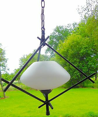 Suspension - Lustre Design 50/60'S  - Globe Opaline -