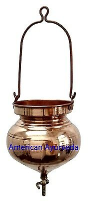 Pure Copper Shirodhara Pot with or without Control Valve for Ayurveda Panchkarma