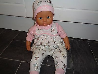 baby annabell  interactive doll-talks/cries/laughs etc+ 3 piece matching outfit
