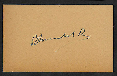 King Bhumibol Adulyadej Autograph Reprint On Original Period 1950s 3X5 Card