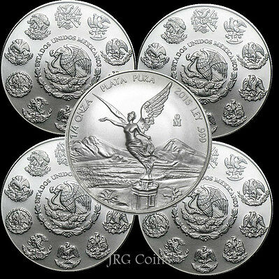 5 x 2016 Mexican libertad 1oz Silver Bullion Coin