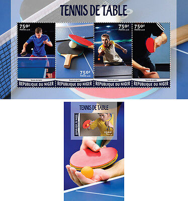 Table Tennis Ping Pong Sports Niger MNH stamp set 2 sheets